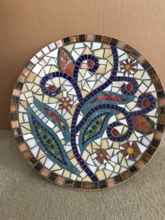 """Mosaic Bamboo Decorative Bowl 18"""" in diameter"""