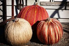 Pumpkin crafts - this link has 50 different ideas