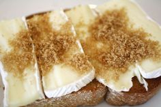 French in a Flash: Brie and Brown Sugar Tartine Recipe Burnt Sugar, Brown Sugar, Creme Brulee Torch, Tartine Recipe, Brown Recipe, Country Bread, Open Faced Sandwich, Slice Of Bread, Brie