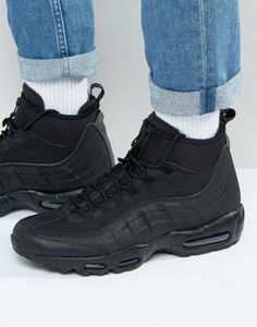 Real Nike Air Max 95 Sneakerboot In Black Sneakers,Buy best Sneakers for men and women like running shoes, classic shoes, crossfit shoes, etc. at great offers and sale. Air Max 95 Green, Air Max 95 White, Nike Casual Shoes, Basket Noir, Baskets, Desert Fashion, Asos, Cheap Nike Air Max, Air Max Thea