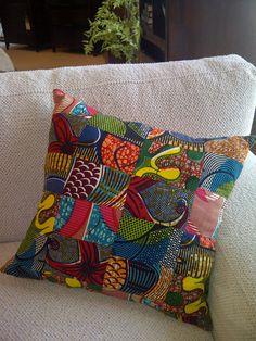 African Print Cushion by ifenkili on Etsy