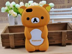 3D-Rilakkuma-Bear-Mobile-Phone-Cover-for-Apple-iPhone-5-5S-Soft-Silicone-Case