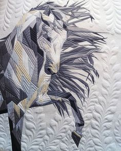Welcome to another gorgeous Showcase Sunday! Longarm Quilting, Quilting Projects, Quilting Designs, Quilting Ideas, Modern Quilting, Quilt Design, Horse Quilt, Quilt Modernen, Farm Quilt