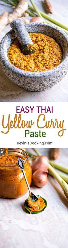 Easy Thai Yellow Curry Paste Recipe - A quick recipe so you can whip together a meal with no fuss.