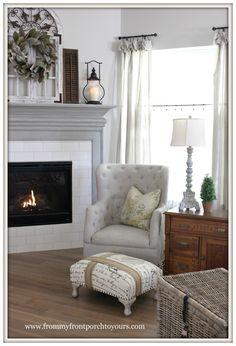 Farmhouse Fireplace Mantel Makeover