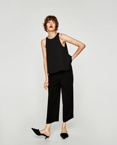 Image 1 of FLOWING TOP WITH BOW from Zara
