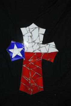 Mosaic Cross by ConniesCrap on Etsy, $45.00