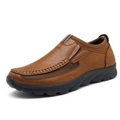 Shoes Obedient Mens Casual Shoes Breathable Large Size Driving Shoes Sets Of Feet Casual Handmade Leather Shoes Men Slip-on Soft Loafers High Quality Goods