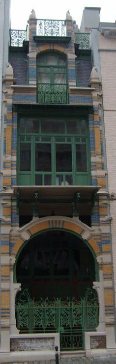Maison de l'architecte Gustave Strauven (art nouveau,1902) rue Luther, 28, Bruxelles
