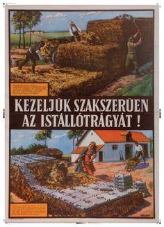 Balázsfy Rezső - Kezeljük szakszerűen az istállótrágyát! 1954 Vintage Humor, Vintage Ads, Vintage Posters, Retro Ads, Budapest Hungary, Illustrations And Posters, Travel Posters, Geography, The Past