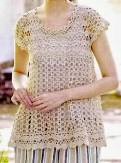 Crochet Tunic Pattern - Woman's Tunic For Spring And Summer free crochet pattern
