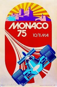 1975-Monaco-French-Grand-Prix-Art-Automobile-Race-Advertisement-Vintage-Poster
