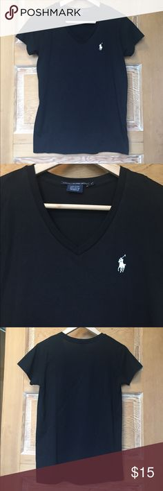 NWOT Ralph Lauren Sport Women's Black cotton tee NWOT Ralph Lauren women's black tee shirt. 100% cotton. Size XS. Never worn and in excellent condition. Polo emblem on front left is white. I normally wear small items and this would fit me Ralph Lauren Tops Tees - Short Sleeve
