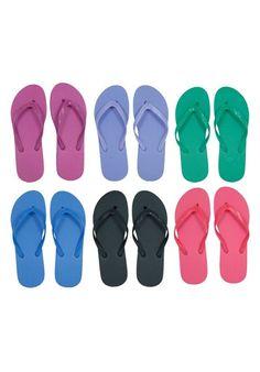 Wholesale Women/'s Flip Flops Lot of 48 Bright Assorted Colors