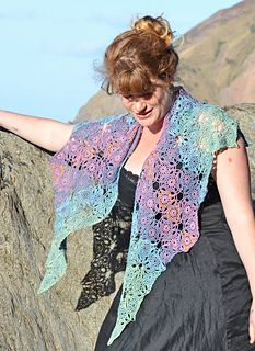 Serefina Crochet Shawl pattern by Amanda Perkins. One of a series of lovely shawls by this talented designer.