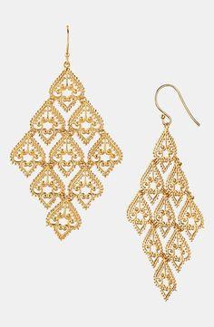 Argento Vivo Large Chandelier Earrings Gold from Nordstrom on Catalog Spree