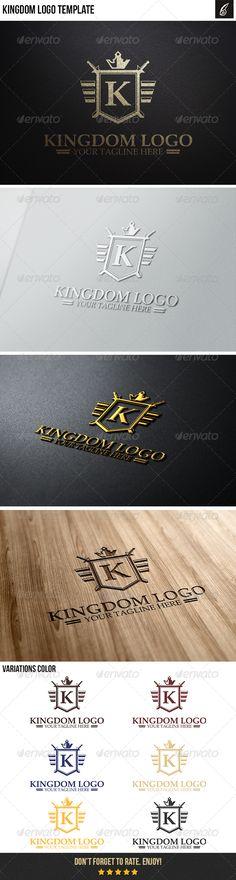 Kingdom Logo — Vector EPS #shield #crest • Available here → https://graphicriver.net/item/kingdom-logo/6366030?ref=pxcr