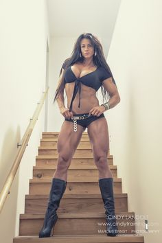 SEXY MUSCULAR BUSTY DOMINATRIX FANTASY with Swiss #Fitness model Cinderella Cindy Landolt : if you LOVE Health, Bodybuilding & #Fitspiration - you'll LOVE the #Motivational designs at CageCult Fashion: http://cagecult.com/mma