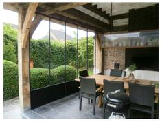 Beautiful home extension, love the black windows