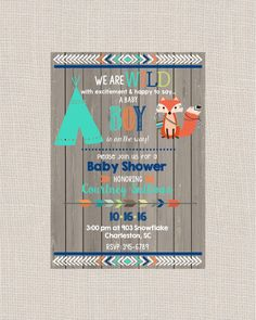 Tribal Baby Shower Invitation Aztec Baby Shower by noteablechic