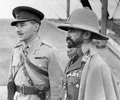 Despite the League of Nations' strong opposition, Italy invaded Ethiopia in 1935. Haile Selassie was forced to flee to Jerusalem and then to London. He addressed the assembly in Geneva on June 1936 with an appeal to intervene in the ongoing conflict. When in June 1940, Italy declared war on Britain, Haile Selassie went to Sudan immediately and from there to Ethiopia, along with the advancing British troops.<br />Above: Exiled Emperor Haile Selassie I, right, with an interpreter, on February…