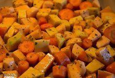 Food and feeling: Helpot uunijuurekset Pavlova, Sweet Potato, Carrots, Food And Drink, Potatoes, Vegetables, Cooking, Recipes, Koti