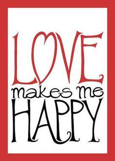 Love Makes Me Happy ❤ original typography  Mariana Musa * www.floatinglemons.com