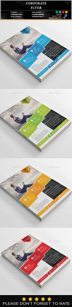 #creative #clean #Corporate #Flyer #template - #business Flyers #design. download: https://graphicriver.net/item/corporate-flyer/20306408?ref=yinkira