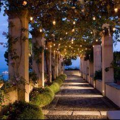 Lighted Walkway, Portofino, Italy photo via melissacampbell