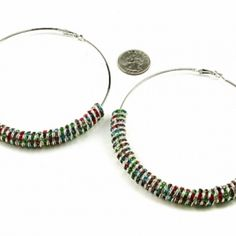 Rainbow Bright Hoop Earring Set at the Shopping Mall, $24.99
