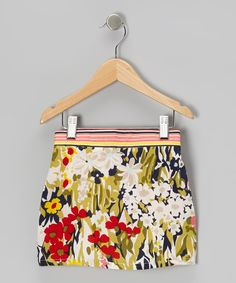 Take a look at this Green & Navy Makiko Reversible Skirt - Toddler & Girls on zulily today!