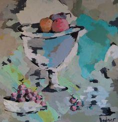 "Gary Bodner, ""A Still Life"", Mixed Media on Canvas, 48x48 - Anne Irwin Fine Art"