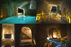 Domus Civita, Civita di Bagnoregio, Italy The 2500-year-old town founded by Etruscans has some tunnels, caves, and Roman water cisterns, and that's what makes the Domus Civita the best house ever. It has a secret garden, a pool with a hot tub, a wine cellar, and some minimalistic but wonderful underground rooms.
