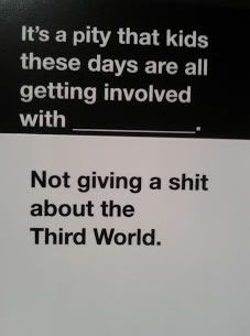 card 2 Cards Against Humanity Crew Dish On Party Game For alarming People