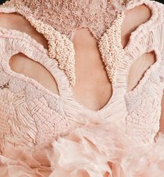 beautiful detailing by McQueen - potentially make horns with detailing like this