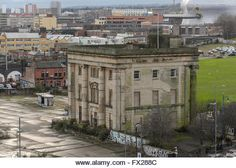 Birmingham Curzon Street railway station ( formerly Birmingham Station) proposed site of the High Speed 2 Birmingham - Stock Image Birmingham Uk, Yesterday And Today, Old Buildings, Britain, Street View, Stock Photos, High Speed, Buses