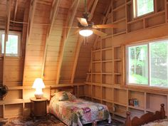 This bedroom is actually in a  restored 1920s, 1,800-square-foot barn.