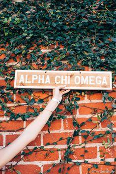 Alpha Chi Omega Vintage Sign
