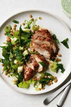 Balsamic Chicken with Spinach Salad  - CountryLiving.com