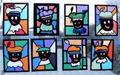Kids Artists: typical Dutch - stained glass zwarte piet