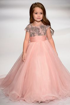 ba2071202be4f Blush pink flower girl dress with silver embellished bodice. Joan Ziegler ·  Little Princess
