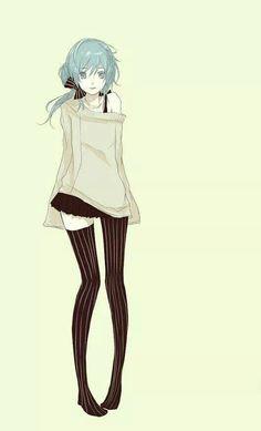 Blue hair on pinterest blue hair anime girls and gothic anime