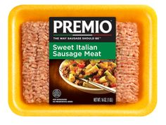 Premio Sweet Italian Sausage Meat  Perfect for sauces. Perfect for stuffing. Perfectly delicious.