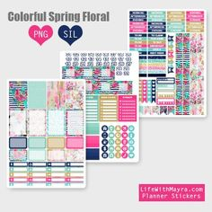 Free Printable Spring Planner Stickers from lifewithmaya.com