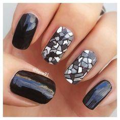 22 Bold Black Nail Designs | Divine Caroline