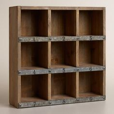 One of my favorite discoveries at WorldMarket.com: Wood and Metal Owen Numbered Desk Cubby