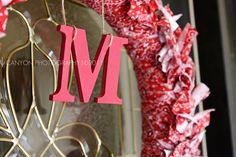 Western wreath, a red bandana cut into strips then tied around a wicker wreath form!