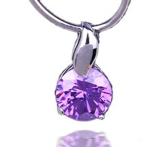 15x8mm Signal Purple Stone 925 Sterling Silver Charms Pendant Fit Necklace