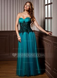 Evening Dresses - $149.99 - A-Line/Princess Sweetheart Floor-Length Tulle Evening Dress With Ruffle Lace (017005816) http://jjshouse.com/A-Line-Princess-Sweetheart-Floor-Length-Tulle-Evening-Dress-With-Ruffle-Lace-017005816-g5816