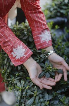 Bileği Nakışlı Rahat Kalıp Keten Elbise - Kırmızı Fingerless Gloves, Arm Warmers, Muslim, Dresses, Fashion, Accessories, Mittens, Gowns, Moda